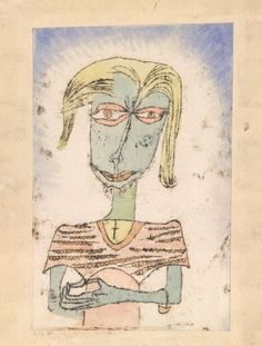 Christian Sactarian - Paul Klee, 1920, 4. Oil-transfer drawing and watercolour on paper on board.
