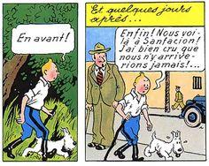 La vie de Tintin | Tintin aussi a un super pouvoir: il peut marcher...