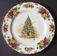 Royal Albert Christmas Old Country Rose Plate