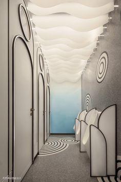 Rest Area, Restroom Design, Changing Room, Washroom, Toilet, Public, Abstract, Interior, Artwork