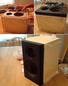 Speaker building is a rewarding mix of woodworking and electronics, beautiful and functional at the sam. Diy Bookshelf Speakers, Home Speakers, Built In Speakers, Diy Bluetooth Speaker, Speaker Plans, Speaker Box Design, Diy Tech, Sound Speaker, Diy Electronics