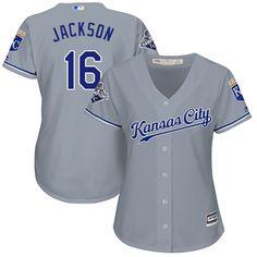 Royals #16 Bo Jackson Grey Road Women's Stitched MLB Jersey