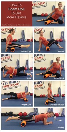 How to Foam Roll to Get More Flexible - Photo Foam roll can be a huge benefit in working out knots and reducing muscle soreness. Read my post to find your flexibility again with instructions and photos. http://www.8womendream.com/60975/how-to-foam-roll-to-get-more-flexible