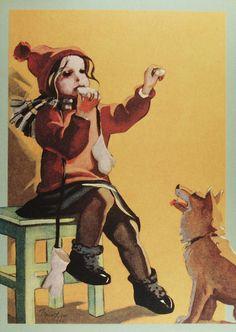 Martta Wendelin (1893- 1986) | par caijsa's postcards Children's Films, Art Nouveau, Picasa Web Albums, Inspiration Art, Old Paintings, Funny Art, Illustrations And Posters, Christmas Art, Vintage Children