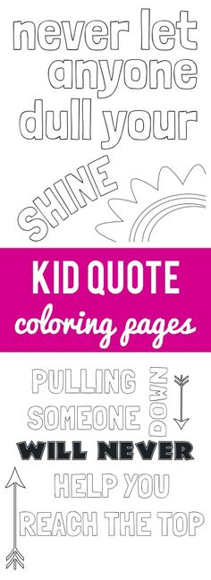 Free printable kid quote coloring pages!  Capturing-Joy.com
