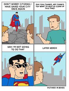 Superman the jerk