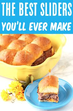 Sliders Recipes Hawaiian Rolls Easy Roast Beef Slider! This easy dinner is perfect for busy weeknights... or serve them as finger foods at your next party and watch them vanish! With just 5 ingredients, you won't believe how simple these are to make, too! Go grab the recipe and give them a try! Dinner Casserole Recipes, Beef Recipes For Dinner, Lunch Recipes, Slider Recipes, Sandwich Recipes, Ground Beef Recipes Easy, Easy Recipes, Game Day Food, Fun Food