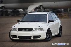 Audi B5 S4 RS4 White BBS CH-R Black a
