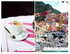 honeymoon ideas .. coffee in Paris .. go to Italy .. what would you love?