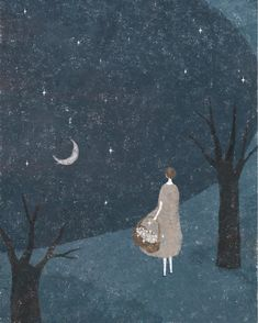 illustration by Akira Kusaka Art And Illustration, Illustrations, Fantasy Kunst, Fantasy Art, Akira, Inspiration Artistique, Photo D Art, Art Graphique, Moon Art