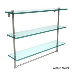Allied Brass Glass 22-inch Triple-tiered Shelf With Integrated Towel Bar