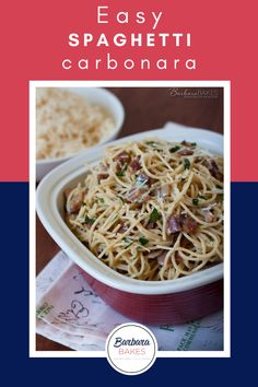 Pasta, bacon, garlic, and cheese - this heavenly flavor combo in this easy Pasta Carbonara recipe is one you'll come back to again and again! #BarbaraBakes #spaghetticarbonara #baconpastacarbonara Easy Pasta Carbonara Recipe, Easy Spaghetti Carbonara, Tomato Pasta Bake, Delicious Dinner Recipes, Soup And Salad, Quick Meals, Pasta Dishes, Heavenly, Utah