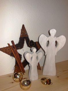 Weihnachtsengel Gabriele in weiß shabbystyle von Designsouris auf DaWanda.com