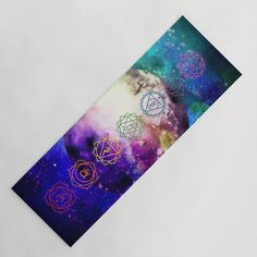 Reach Out To The Stars Yoga Mat by beebeedeigner Visionary Art, Sacred Geometry, Namaste, Floral Tie, Whimsical, Digital Art, Yoga, Stars, Chakras