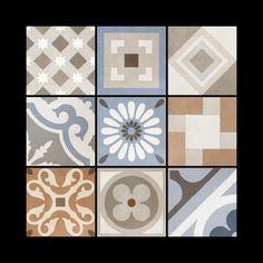 Fioranese Cementine retro Wall And Floor Tiles, Concrete Floors, Tile Design, Stoneware, Porcelain, Colours, Flooring, Benches, Cottage
