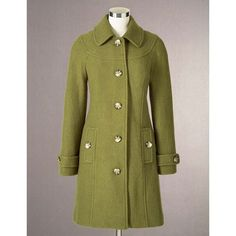 Boden Boiled Wool Coat ❤ liked on Polyvore