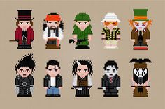Famous people Johnny Depp cross stitch.
