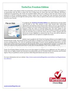 turbotax-freedom-edition by dany taylor via Slideshare