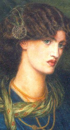 Mariana (detail) by Dante Gabriel Rossetti