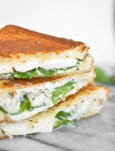 White Garlic Pizza Grilled Cheese #recipe