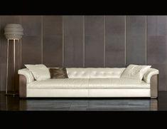 Nella Vetrina Rugiano Mytos 6066 upholstered Sofa in White
