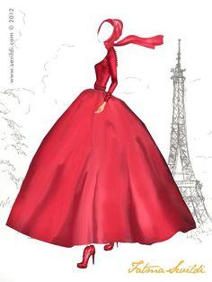 ♥ *Dior Hijabi Vogue Fashion, Cute Fashion, Fashion Art, Girl Fashion, Fashion Design, Islamic Fashion, Muslim Fashion, Hijab Fashion, Fashion Illustration Poses