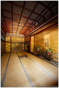 Inside Ninna-ji temple, Kyoto, Japan 仁和寺 京都