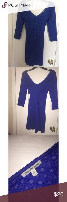 Charlotte Russe royal blue bodycon dress Lace Royal blue bodycon dress with back cut out Charlotte Russe Dresses Backless