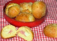 Fragole e panna: Panini senza lievitazione ripieni al prosciutto cotto e scamorza !