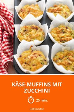 Käse-Muffins mit Zucchini - smarter - Zeit: 25 Min. | eatsmarter.de