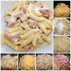 Pølse»grateng» i gryte på 20 minutter – Spiselise Recipe Boards, Linguine, 20 Min, Bolognese, Hawaiian Pizza, Pasta Salad, Food Porn, Food And Drink, Ethnic Recipes
