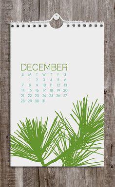 2014 Calendar / Botanical / Wall