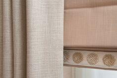 Kelling Designs - Belgravia Mews House - Master Bedroom - Curtain & Blind Detailing