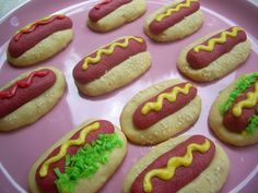 HA! These may be better than the hamburger cookies with Nilla wafers.