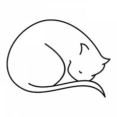 Cat Tattoo Designs | ... Photo album » Tattoo designs » Cats » Sleeping cat design tattoo