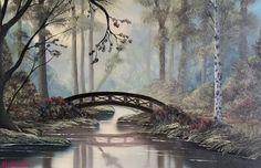 Forest Bridge. Landscape.