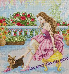 los gráficos del gato: CHICA CON PERRITO