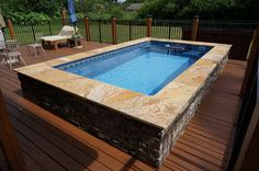 Crystal clear water and no flip turns. Swim on your deck in an Endless Pool.
