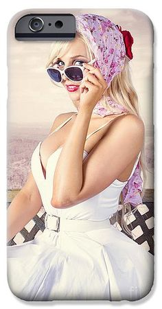 Beautiful IPhone 6s Case featuring the photograph Beautiful Retro Fashion Girl. Australian Landscape by Ryan Jorgensen