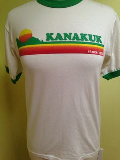 "Items similar to Vintage Retro ""Kanakuk"" Graphic Ringer Tee Shirt, size Small/Medium on Etsy Vintage Tee Shirts, Retro Vintage, Vintage Graphic, Retro Sneakers, Cool Shirts, Vintage Inspired, Sun Aesthetic, Graphic Tees, Shirt Designs"