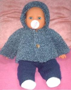 You can access more content by visiting the site. modèle tricot poupon 30 cm gratuit Plus - Knitting Dolls Clothes, Knitted Dolls, Doll Clothes Patterns, Clothing Patterns, Baby Patterns, Knitting Patterns, Baby Knitting, Crochet Baby, Bitty Baby Clothes