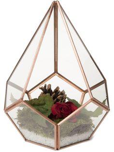Glass Terrarium - Teardrop Tabletop Terrarium - Small Terrarium
