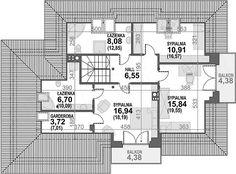 Projekt domu Alicja N 2G+ 138,55 m2 - koszt budowy 248 tys. zł - EXTRADOM My House Plans, Bungalow, Colonial, Floor Plans, 1, House Design, How To Plan, Houses, Architecture