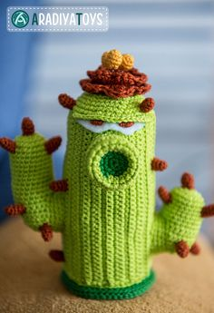 "Crochet Pattern of Cactus from ""Plants vs Zombies"" (Amigurumi tutorial PDF file)"