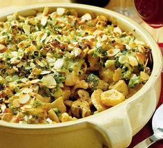 This dish can be assembled ready for baking a good few hours ahead - and it's all cooked in one pan