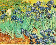 「アイリス」 1889、  71 x 93 cm  ゲッティ美術館 マリブ カリフォルニア