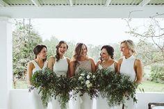 Lush Olive Green and White Winery Wedding | Sarah Godenzi
