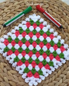 Easy Knitting Patterns, Crochet Patterns, V Stitch, Hand Applique, Beaded Jewelry Patterns, Crochet Crafts, Crochet Stitches, Baby Knitting, Diy And Crafts