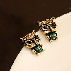 Best price on Fashion Style Owl Rhinestone Vintage Ear Stud Earrings //    Price: $ 8.90  & Free Shipping Worldwide //    See details here: http://mrowlie.com/product/fashion-style-owl-rhinestone-vintage-ear-stud-earrings/ //    #owl #owlnecklaces #owljewelry #owlwallstickers #owlstickers #owltoys #toys #owlcostumes #owlphone #phonecase #womanclothing #mensclothing #earrings #owlwatches #mrowlie #owlporcelain