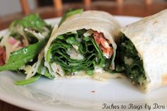 """""""That Salad"""" by Marianne Warner turned into Spinach Salad Wraps."""